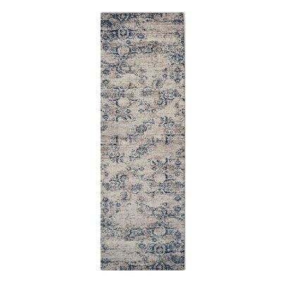Apsley Beige/Blue Area Rug Rug Size: Runner�32 x 10