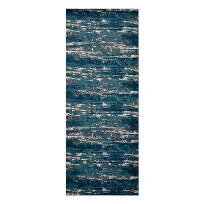 Costales Silver/Blue Area Rug Rug Size: Runner�32 x 10
