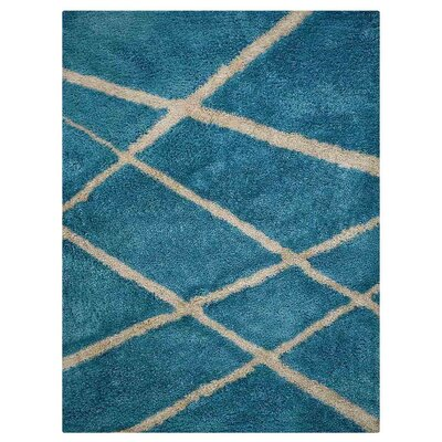 Jefferson Place Handmade Shag Firoza White Area Rug Rug Size: Rectangle�10 x 13