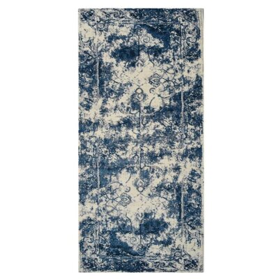 Appenzell Ivory/Blue Area Rug Rug Size: Runner�32 x 10