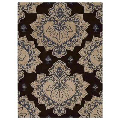 Ry Hand-Woven Wool Cream/Brown Area Rug Rug Size: Rectangle�5 x 8