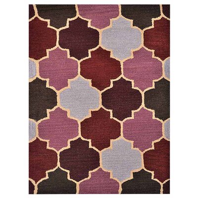 Bolton Hand-Woven Wool Brown/Purple Area Rug Rug Size: Rectangle�5' x 8'