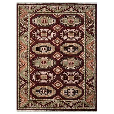 Corrin Hand-Woven Brown/Green Area Rug Rug Size: Rectangle 5 x 8