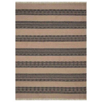 Reyer H-Woven Charcoal Area Rug Rug Size: Rectangle�5 x 8