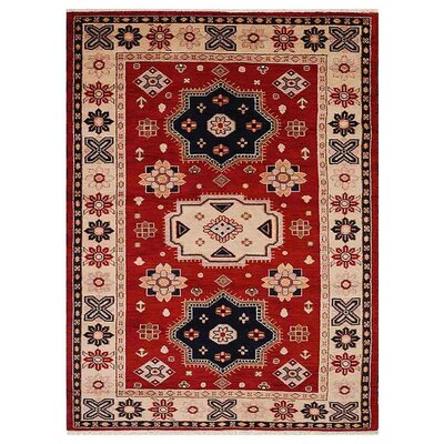 Corrin Hand-Woven Red/Cream Area Rug Rug Size: Rectangle�9 x 12