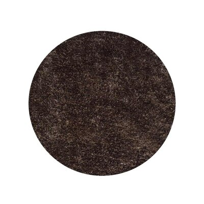 Ayako Hand-Woven Gray Area Rug Rug Size: Round 8
