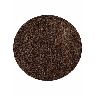 Filander Hand-Woven Brown Area Rug Rug Size: Round 8