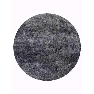 Sanford Solid Hand-Woven Gray Area Rug Rug Size: Round 8