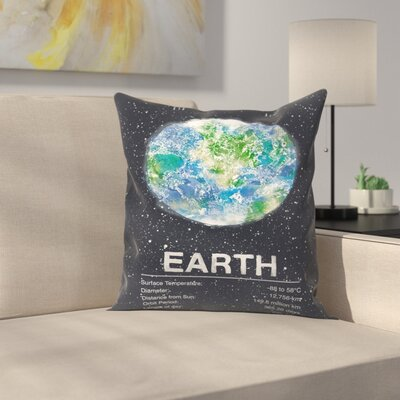 Earth Throw Pillow Size: 18 x 18