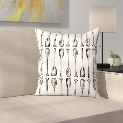 Jetty Printables Oar Paddle Pattern Throw Pillow Size: 18 x 18