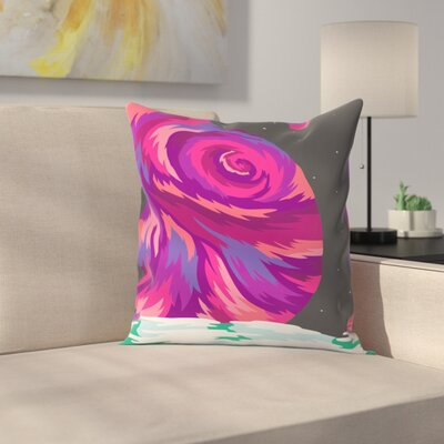 Joe Van Wetering New Moon Throw Pillow Size: 16 x 16