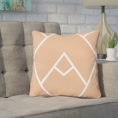 Leonila Indoor/Outdoor Throw Pillow Color: Cantaloupe, Size: 18 H x 18 W x 3 D