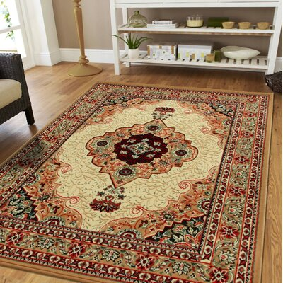 Kujawski Traditional Beige Indoor/Outdoor Area Rug Rug Size: Rectangle 5 x 8