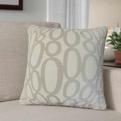 Penshire Geometric Throw Pillow Cover Color: Steel