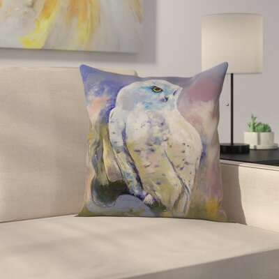 Michael Creese Snowy Owl Throw Pillow Size: 18 x 18
