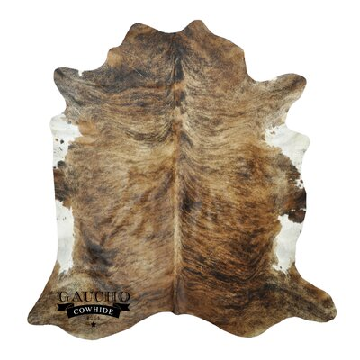 One-of-a-Kind Pinkerton Cowhide Brown/White Area Rug
