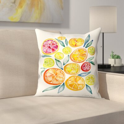 Citrus Slices Throw Pillow Size: 18 x 18