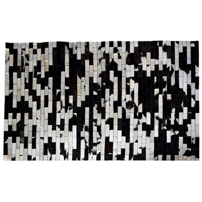 One-of-a-Kind Pinzon Natural Patchwork Black/White Cowhide Area Rug
