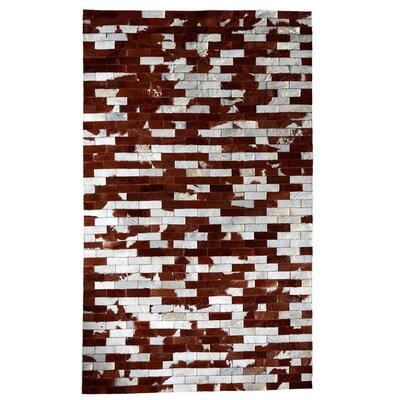 One-of-a-Kind Piotrowski Natural Patchwork Brown/White Cowhide Area Rug