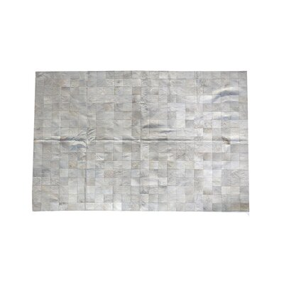 One-of-a-Kind Coddington Natural Patchwork Cowhide Gray Area Rug Rug Size: Rectangle 6 x 9