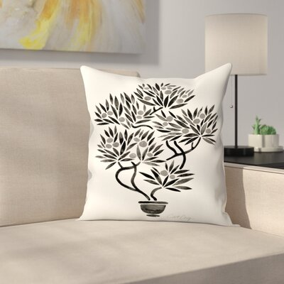 Cat Coquillette Bonsai Throw Pillow Size: 18 x 18