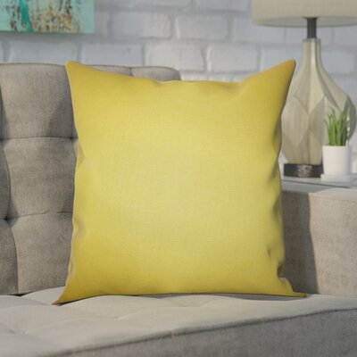 Portsmouth 100% Cotton Throw Pillow Color: Yellow, Size: 20 x 20