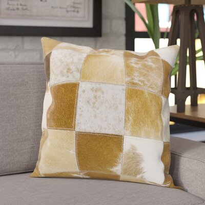 Throw Pillow Color: Brown/White