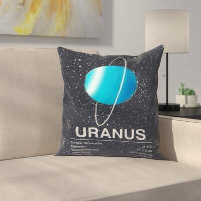 Uranus Throw Pillow Size: 18 x 18