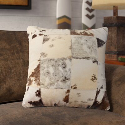 Crescent City Leather Cowhide Throw Pillow Color: Salt & Pepper Black