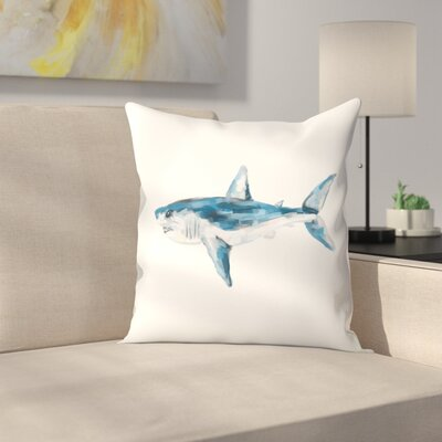 Jetty Printables Mako Shark Art Print Throw Pillow Size: 20 x 20
