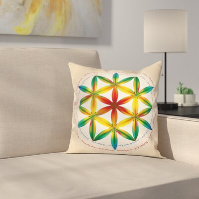Space and Time Spiral Square Pillow Cover Size: 16 x 16