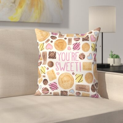 Elena ONeill Youre Sweet Throw Pillow Size: 18 x 18