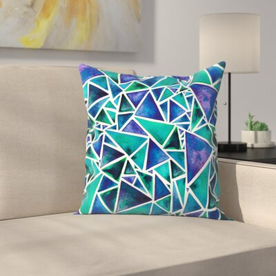 Elena ONeill Geometric Triangles Throw Pillow Size: 14 x 14