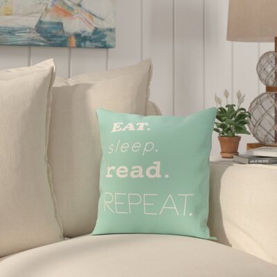 Cedarville Mantra Throw Pillow Size: 26 H x 26 W, Color: Aqua