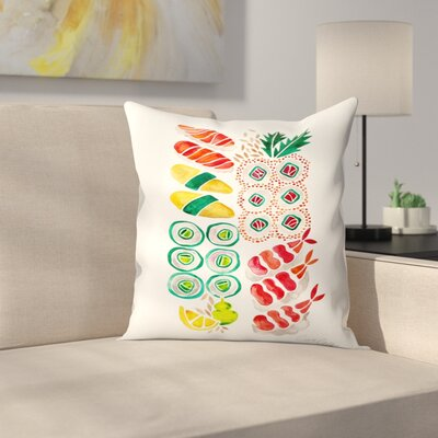 Cat Coquillette Sushi Throw Pillow Size: 14 x 14