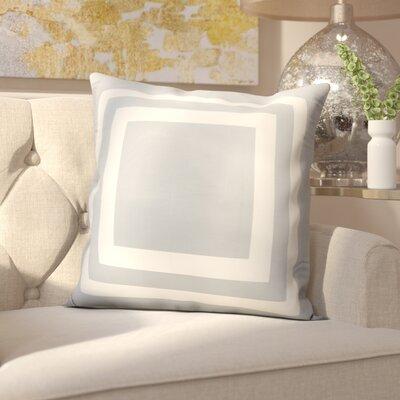 Horovitz Outdoor Throw Pillow Color: Grey