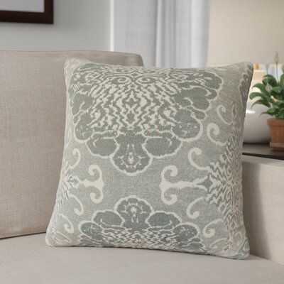 Calypso Damask Down Filled Throw Pillow Size: 22 x 22, Color: Graystone