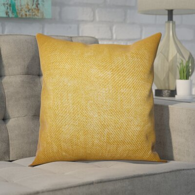 Portsmouth Solid Burlap Throw Pillow Color: Mango, Size: 20 H x  20 W