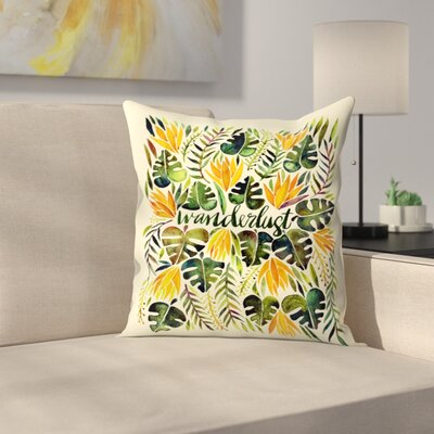 Cat Coquillette Wanderlust Throw Pillow Size: 20 x 20