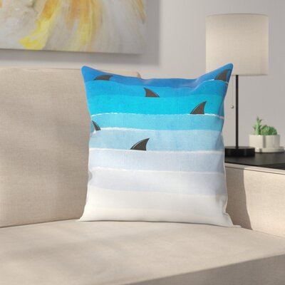 Sharks Throw Pillow Size: 14