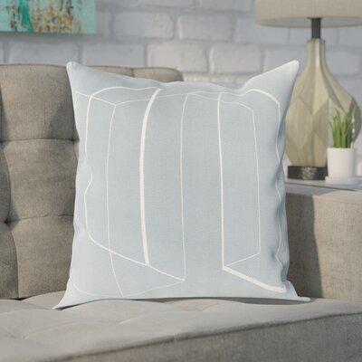 Sherrard 100% Cotton Throw Pillow Cover Size: 22 H x 22 W x 0.25 D, Color: GrayNeutral