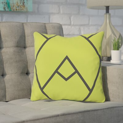 Leonila Indoor/Outdoor Throw Pillow Color: Green, Size: 18 H x 18 W x 3 D