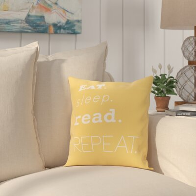 Cedarville Mantra Throw Pillow Size: 16 H x 16 W, Color: Yellow