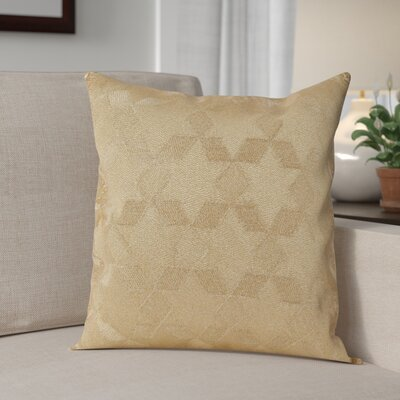Genese Stitched Star Cotton Throw Pillow Color: Gold