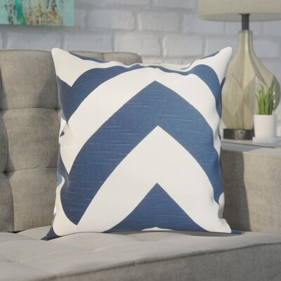 Spadafora 100% Cotton Throw Pillow Color: Blue, Size: 18 H x 18 W