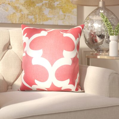 Clyburn 100% Cotton Throw Pillow Color: Red, Size: 18 x 18