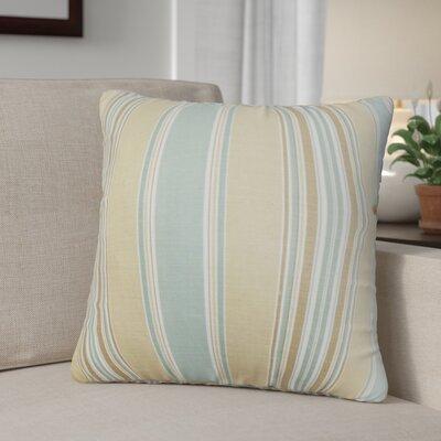Ashprington Stripes Throw Pillow Cover Size: 20 x 20, Color: Surf