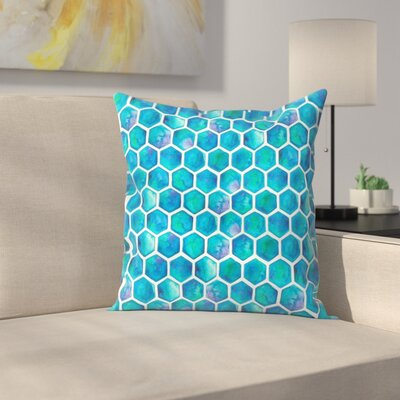 Elena O'Neill Hexagons Throw Pillow Size: 14