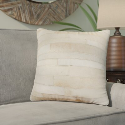 Graham Leather Throw Pillow Color: Natual