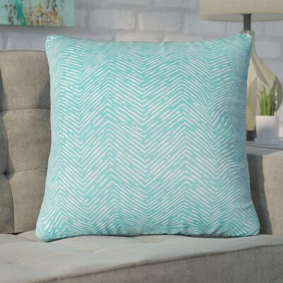 Chidi Outdoor Throw Pillow Fabric: Teal, Size: 24 H x 24 W x 10 D